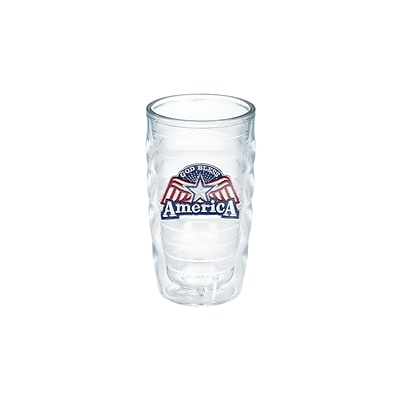 Tervis Tumbler American Pride God Bless America Wavy 10 oz. Plastic Every Day Glass