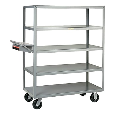Little Giant USA 24'' x 52'' Multi-Shelf Utility Cart w/ Writing Shelf and Storage Pocket