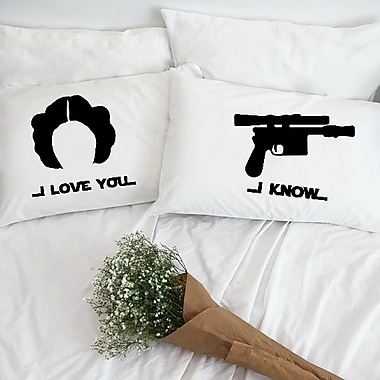 Love You A Latte Shop I Love You and I Know Pillowcases (Set of 2)