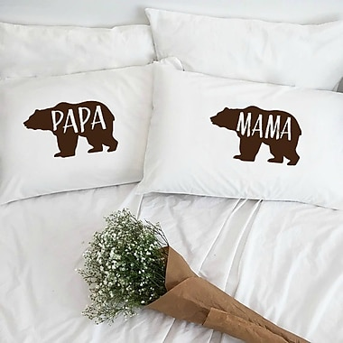 Love You A Latte Shop Papa Bear and Mama Bear Pillowcases (Set of 2)