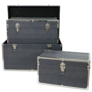 Selectives Night Cast Faux Leather Storage Trunk