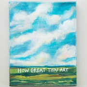 Glory Haus 'How Great Thou Art' Print on Canvas