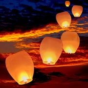Vandue Corporation Sky Chinese Flying Wish Light Lantern (Set of 30)