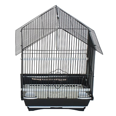 YML House Top Style Small Parakeet Cage; Black