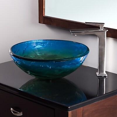 Novatto Mare Glass Circular Vessel Bathroom Sink