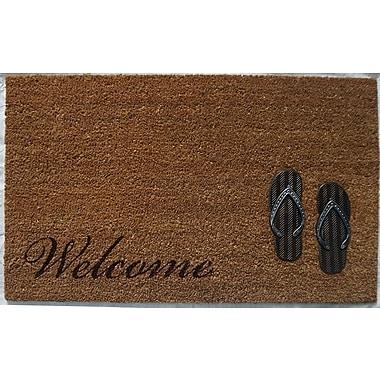 Home Fashion Designs Hadley Coir Brushed Sandals Door Mat