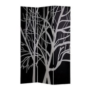 Roundhill Furniture 71'' x 53''  Double Sided Painting Canvas 3 Panel Room Divider