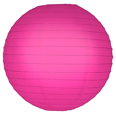 Luminarias Round Lantern (Set of 5); Fuchsia