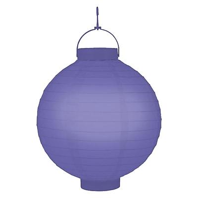 Luminarias Battery Operated Lantern (Set of 3); Purple