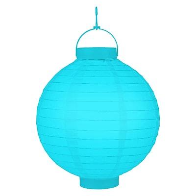 Luminarias Battery Operated Lantern (Set of 3); Turquoise