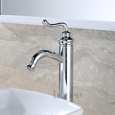 Luxier Hole Lavatory Vanity Vessel Sink Bathroom Faucet; Chrome
