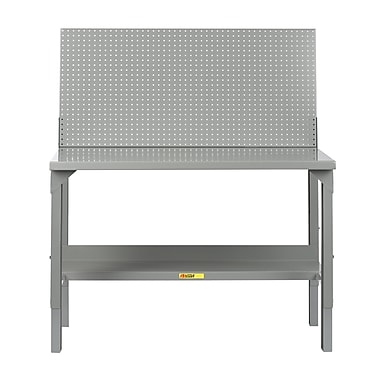 Little Giant USA Welded Stationary Height Adjustable Steel Top Workbench; 60'' W x 28'' D