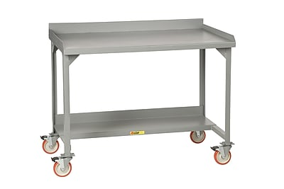 Little Giant USA Mobile Welded Stationary Steel Top Workbench; 36'' H x 60'' W x 28'' D