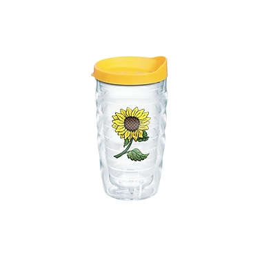 Tervis Tumbler Garden Party Sunflower 10 Oz. Wavy Tumbler w/ Lid