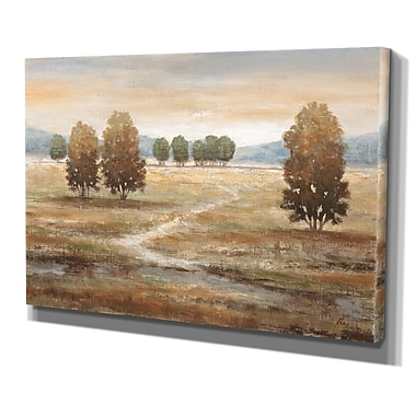 WexfordHome ''Linen Landscape'' by Nan Painting Print on Wrapped Canvas; 24'' H x 36'' W x 1.5'' D