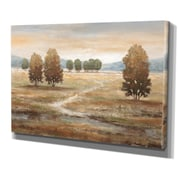 WexfordHome ''Linen Landscape'' by Nan Painting Print on Wrapped Canvas; 18'' H x 27'' W x 1.5'' D