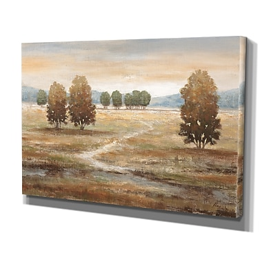 WexfordHome ''Linen Landscape I'' by Nan Painting Print on Wrapped Canvas; 32'' H x 48'' W x 1.5'' D