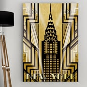 WexfordHome ''NY Deco'' by Katrina Craven Graphic Art on Wrapped Canvas; 36'' H x 24'' W x 1.5'' D