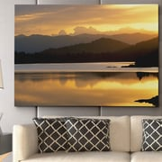 WexfordHome ''Sunset at Rainbow Lake'' by Danita Delimont Photographic Print on Wrapped Canvas