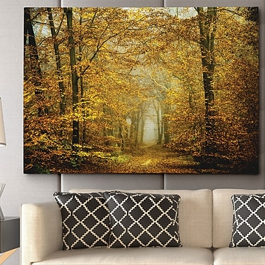 WexfordHome ''Soon Fall Leaves'' by Lars Van de Goor Photographic Print on Wrapped Canvas