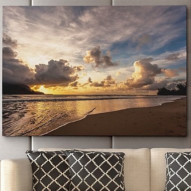 WexfordHome 'Sunset in Hanalei Bay' by Danita Delimont Framed Photographic Print on Wrapped Canvas