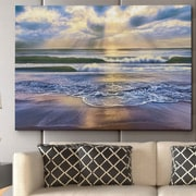 WexfordHome 'Calming Sea' by Mike Calascibetta Framed Photographic Print on Wrapped Canvas
