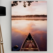 WexfordHome 'Lake at Dawn' by Danita Delimont Framed Photographic Print on Wrapped Canvas