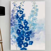 WexfordHome 'Delphinium I' by Rogier Daniels Framed Painting Print on Wrapped Canvas