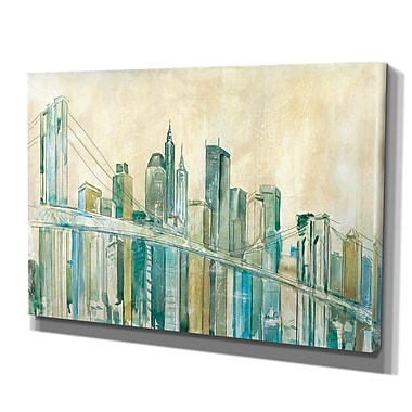 WexfordHome 'New York City Sketch' by Carol Robinson Framed Painting Print on Wrapped Canvas