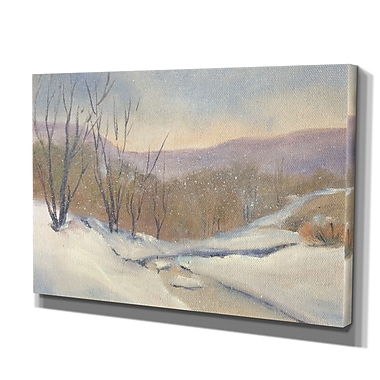 WexfordHome 'Evening Snowfall' by Carol Robinson Framed Painting Print on Wrapped Canvas