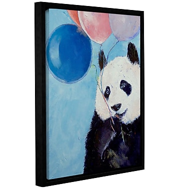 ArtWall Panda Party by Michael Creese Framed Painting Print on Wrapped Canvas; 48'' H x 32'' W