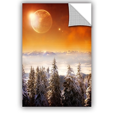 ArtWall 'Golden Eclipse II' by Dragos Dumitrascu Photographic Print; 12'' H x 18'' W x 0.1'' D
