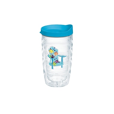 Tervis Tumbler Sun and Surf Adirondack Chair Tropical Fish 10 Oz. Wavy Tumbler w/ Lid