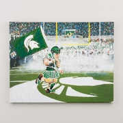 Glory Haus 'Sparty @ Spartan Stadium' by Richard Russell Graphic Art on Wrapped Canvas
