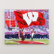 Glory Haus 'Bucky Badger @ Camp Randall' by Richard Russell Painting Print on Wrapped Canvas