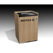 Amcase 32-Gal Recycling Container Cabinet; Uptown Walnut/Black