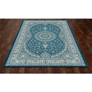 Art Carpet Kensington Blue Area Rug; Oval 5' x 8'