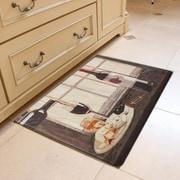 Home Fashion Designs Bennett Wine Bottle Kitchen Mat