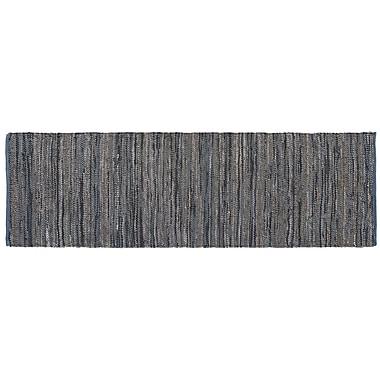 HFLT Monterey Hand-Woven Dove Gray Area Rug; Runner 2'6'' x 8'