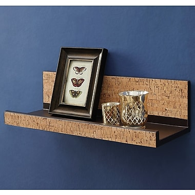 OIA Decorative Cork Wall Shelf