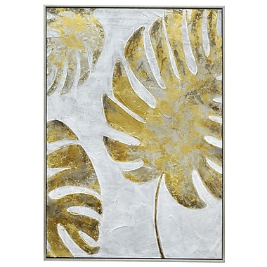 Three Hands Co. 'Tropical Palm Fronds' Framed Painting Print