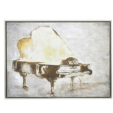 Three Hands Co. 'Piano' Framed Painting Print