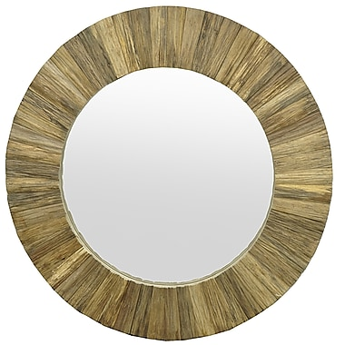 Three Hands Co. Wood Slat Wall Mirror