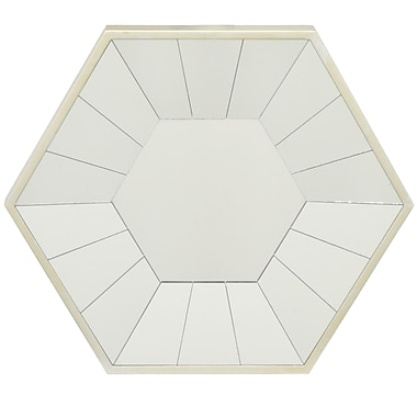 Three Hands Co. Hexagon Decorative Wall Mirror