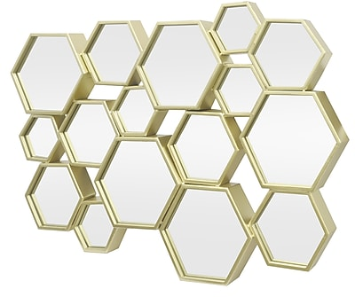 Three Hands Co. Hexagon Cluster Metal Decorative