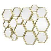 Three Hands Co. Hexagon Cluster Metal Decorative Wall Mirror