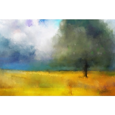 Buy Art For Less 'Watercolor Landscape Abstract II' by Cliff Warner Painting Print on Wrapped Canvas