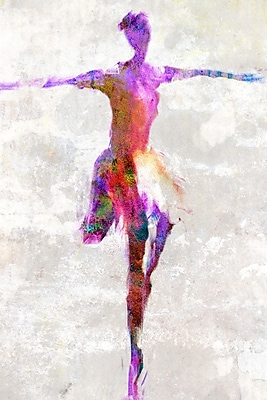 Buy Art For Less 'Watercolor Ballet Dancer I' by Cliff Warner Painting Print on Wrapped Canvas