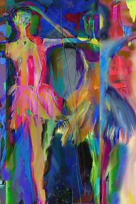 Buy Art For Less 'Abstract Ballet Dancers' by Cliff Warner Painting Print on Wrapped Canvas