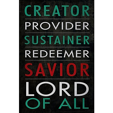 Buy Art For Less 'Savior Lord of All Typography' by Dallas Drotz Textual Art on Wrapped Canvas